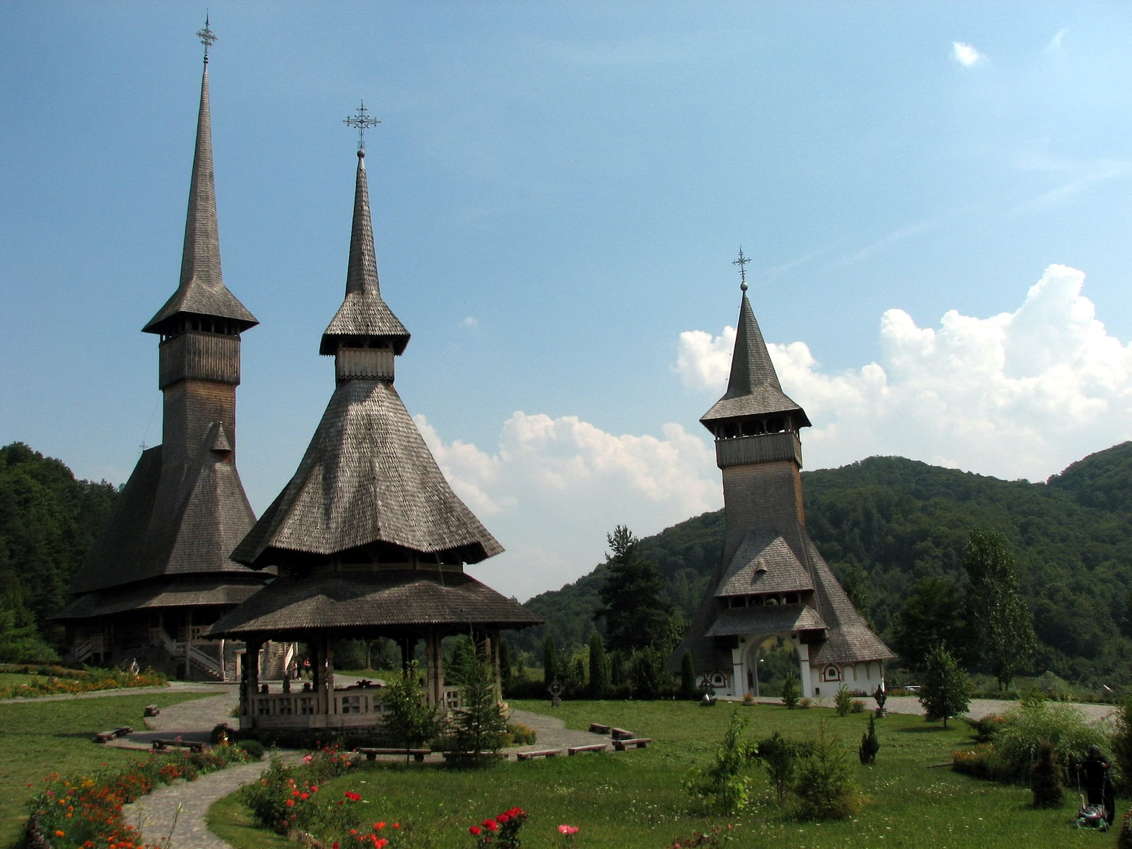 Barsana wooden church from Maramures Romania