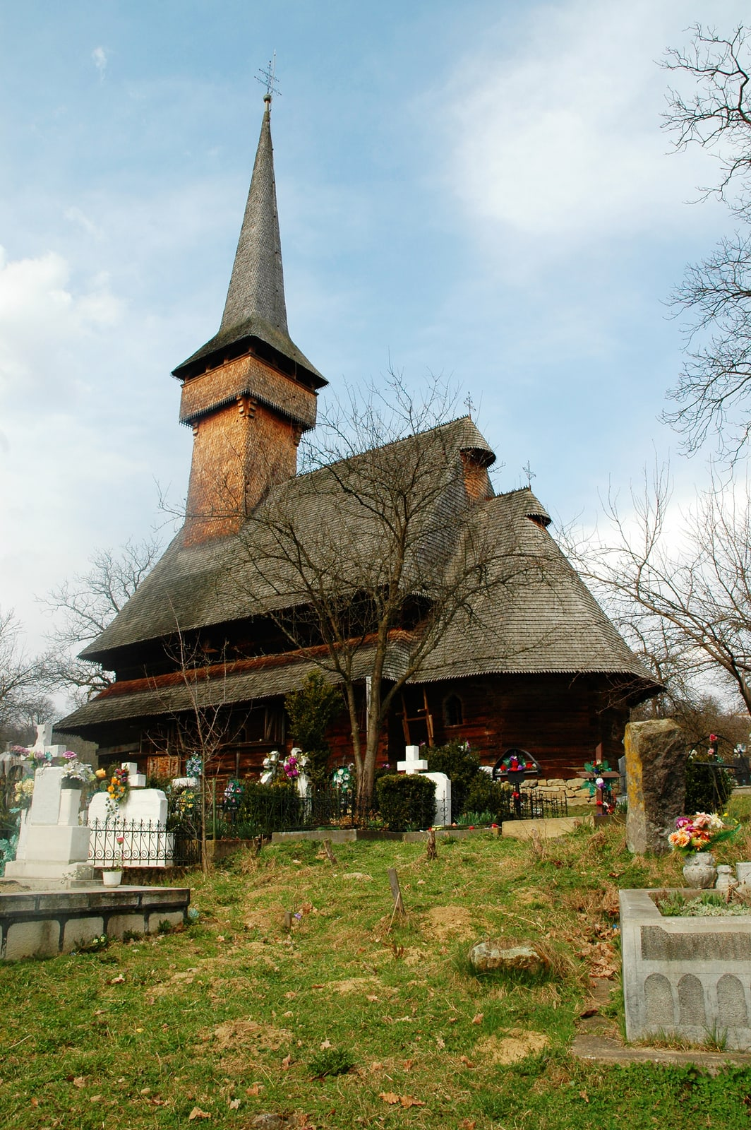 Unesco wooden church of Desesti, Maramures, Romania